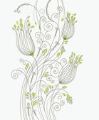 Greeting card, floral design — Stock Vector
