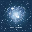 Christmas and New Year's greeting card - Imagen vectorial
