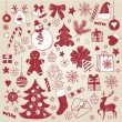 Christmas hand-draw elements — Stock Vector #7728508