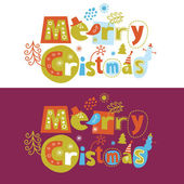 Christmas letters — Stock Vector
