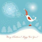 Navidad y de año nuevo de tarjetas de felicitación — Vector de stock