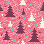 Christmas and New Year's seamless pattern — Stock vektor