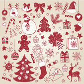 Christmas hand-draw elements — Stock Vector