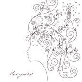 Güzellik kadın — Stok Vektör