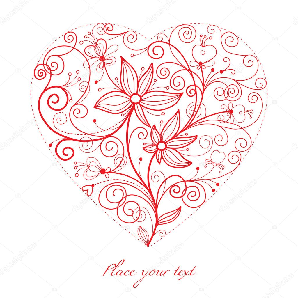 Valentine card — Stock Vector #7728488