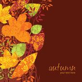Höstens vertikala bakgrund — Stockvektor