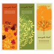 Stock Vector: Autumn vertical banners