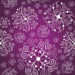 Seamless christmas background , snowflakes — Stock Vector