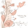 Romantic floral  background - Imagen vectorial