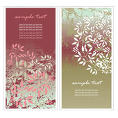 Floral vertical banners — Stock Vector