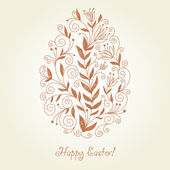 Easter egg, greeting card — Stock Vector
