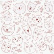 Royalty-Free Stock Vector Image: Seamless pattern with cats