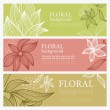 Horizontal floral banners — Stock Vector