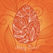 Easter egg with floral elements - Imagen vectorial