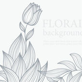 Beauty floral background — Stok Vektör