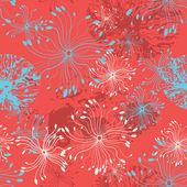 Seamless floral background — Vector de stock