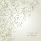 Floral background, greeting card — Vector de stock