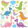 Stock Vector: Seamless pattern with cute animals