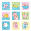 Stock Vector: Baby images