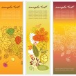 Set of three vertical floral banners — Stock Vector