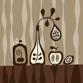 Still-life background — Vector de stock