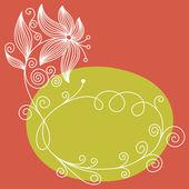 Floral bakgrund, hälsningar kort — Stockvektor