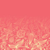 Floral background, greetings card — Vettoriale Stock