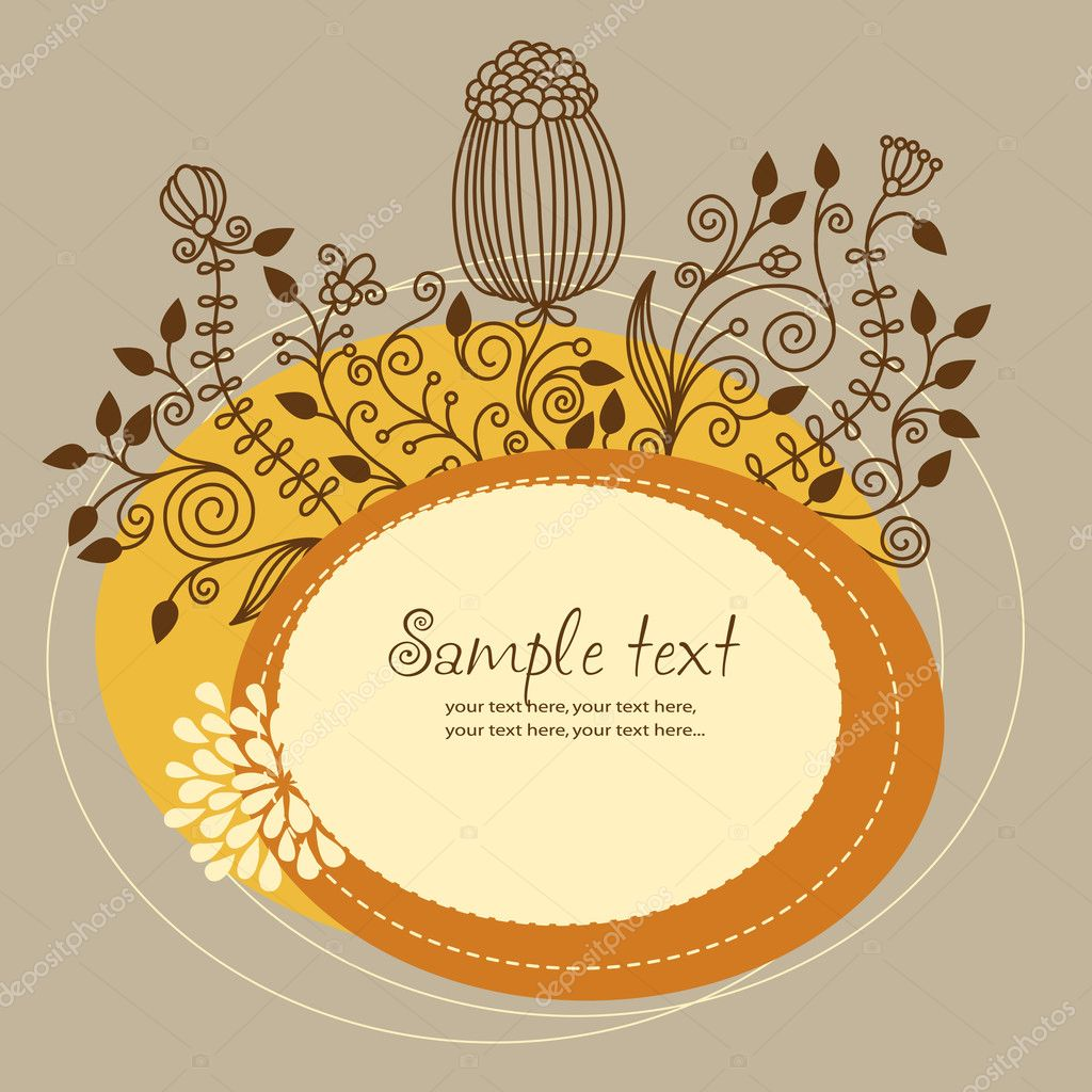 Background image 7945 - Floral Background Greeting Card Vector By Birdhouse
