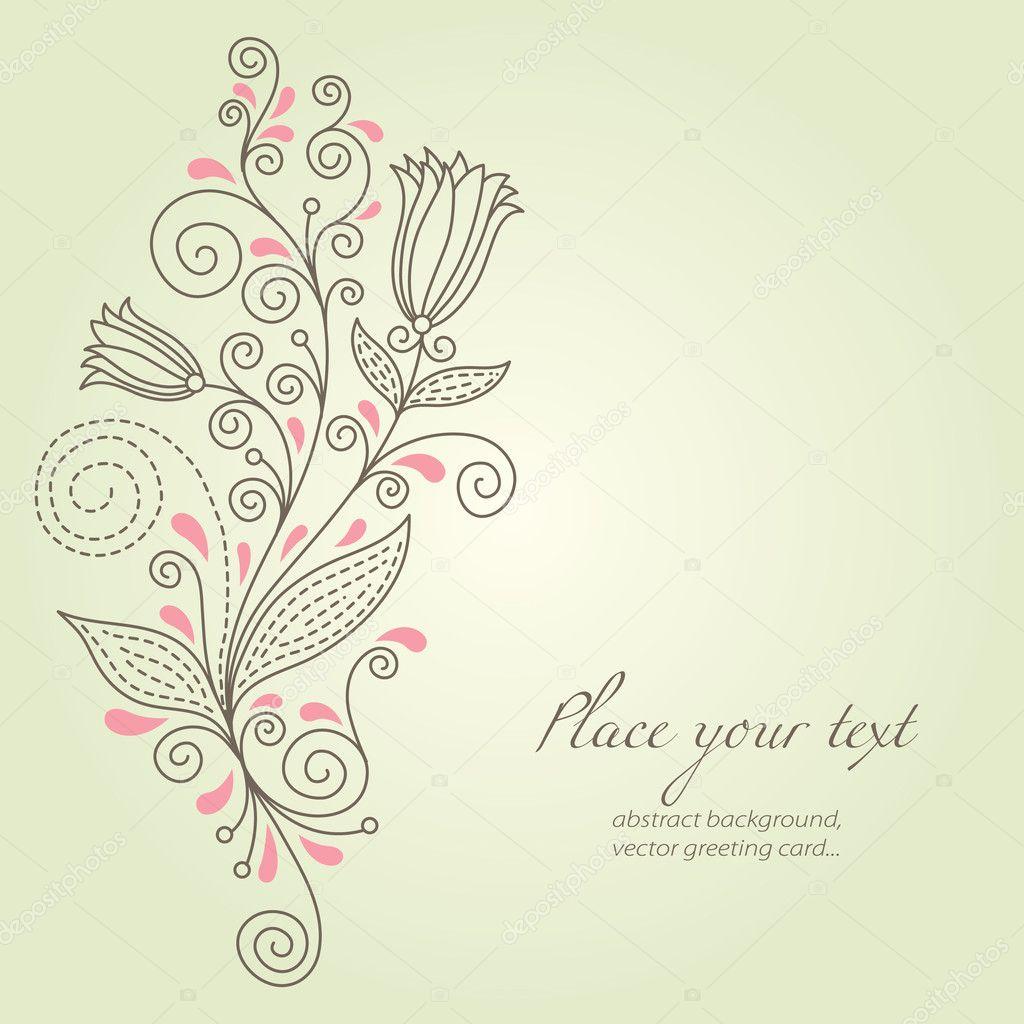 Background image 7945 - Beauty Floral Background Stock Illustration