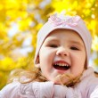 Stock Photo: Autumn portrait of cute little caucasian girl