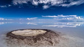 Underground spring at salar de uyuni desert bolivia — Stock Photo