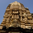 Stock Photo: Erotic sculptures at khajuraho temple, madhya pradesh, india, as