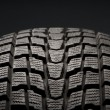 Closeup detail of winter tire tread — Stock Photo #7903860