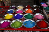 Diversity of powder colors for skin dyeing — Stock Photo