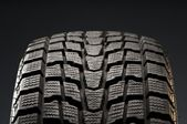 Closeup detail of winter tire tread — Stock Photo