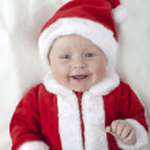 Baby Santa Claus — Stock Photo