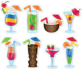 Tropical Drinks — Stock Vector