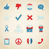 Political Icons — Stock Vector
