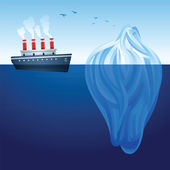 Iceberg Ship — Stock Vector