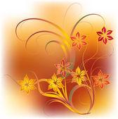 Flower background - vector illustration — Stock Vector