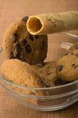 çikolata cips ve çin böreği — Stok fotoğraf