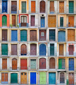 Front doors, Barcelona, Spain — Stock Photo