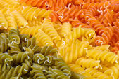 3 colors fusilli — Stock Photo