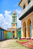 Colorful cuban village — Stock Photo