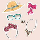 Set of woman accessories — Stock Photo