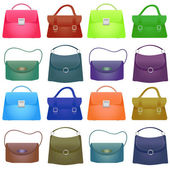 Colorful Woman bag on white background — Stock Photo
