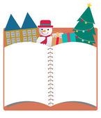 Blank christmas notebook background — Stock Photo