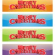 Set of Christmas banners - Stock Photo