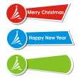 Stock Vector: Set of christmas stickers