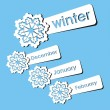 Winter season stickers — Stock Vector